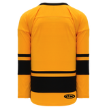 Athletic Knit (AK) H6400-213 Gold/Black League Hockey Jersey