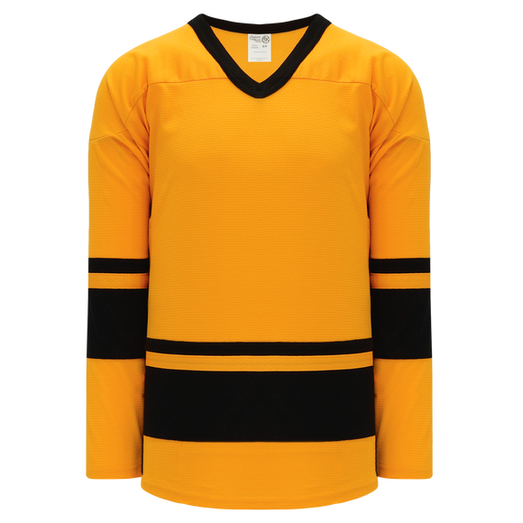 Athletic Knit (AK) H6400A-213 Adult Gold/Black League Hockey Jersey
