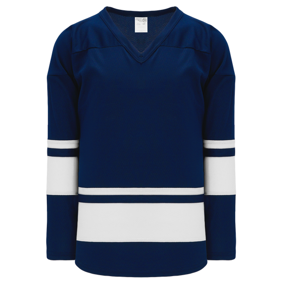 Athletic Knit (AK) H6400A-216 Adult Navy/White League Hockey Jersey