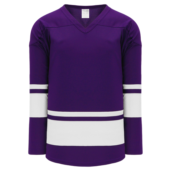 Athletic Knit (AK) H6400A-220 Adult Purple/White League Hockey Jersey