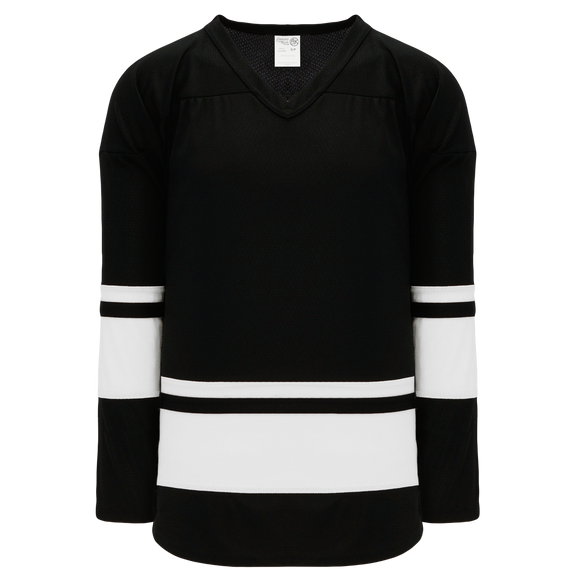 Athletic Knit (AK) H6400A-221 Adult Black/White League Hockey Jersey