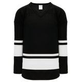 Athletic Knit (AK) H6400-221 Black/White League Hockey Jersey