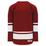 Athletic Knit (AK) H6400A-250 Adult AV Red/White League Hockey Jersey