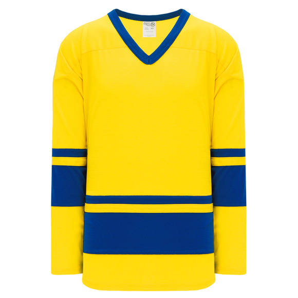 Athletic Knit (AK) H6400-257 Maize/Royal Blue League Hockey Jersey