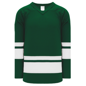 Athletic Knit (AK) H6400-260 Dark Green/White League Hockey Jersey