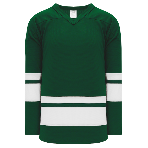 Athletic Knit (AK) H6400A-260 Adult Dark Green/White League Hockey Jersey