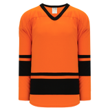 Athletic Knit (AK) H6400A-263 Adult Orange/Black League Hockey Jersey