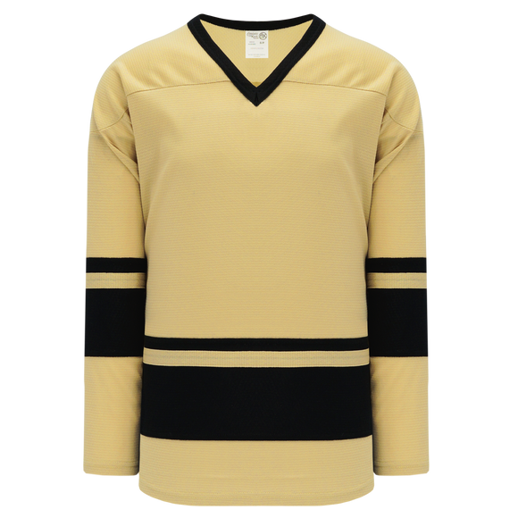 Athletic Knit (AK) H6400A-282 Adult Vegas Gold/Black League Hockey Jersey