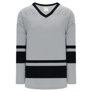 Athletic Knit (AK) H6400-822 Grey/Black League Hockey Jersey
