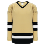 Athletic Knit (AK) H6500A-281 Adult Vegas Gold/Black/White League Hockey Jersey