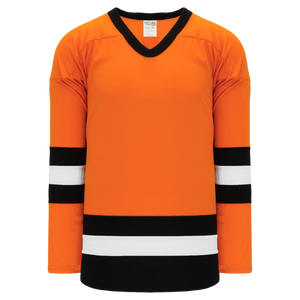 Athletic Knit (AK) H6500-330 Orange/Black/White League Hockey Jersey