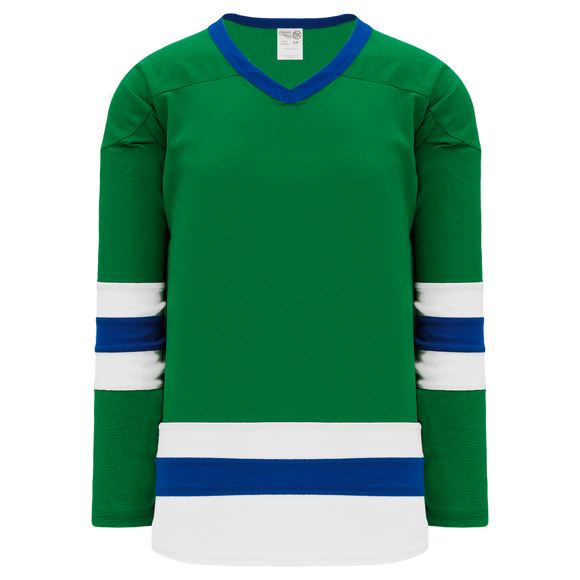 Athletic Knit (AK) H6500 Kelly Green/White/Royal Blue League Hockey Jersey