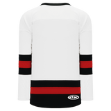 Athletic Knit (AK) H6500-415 White/Black/Red League Hockey Jersey