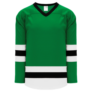 Athletic Knit (AK) H6500-440 Kelly Green/White/Black League Hockey Jersey