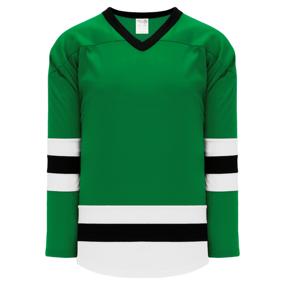 Athletic Knit (AK) H6500A-440 Adult Kelly Green/White/Black League Hockey Jersey