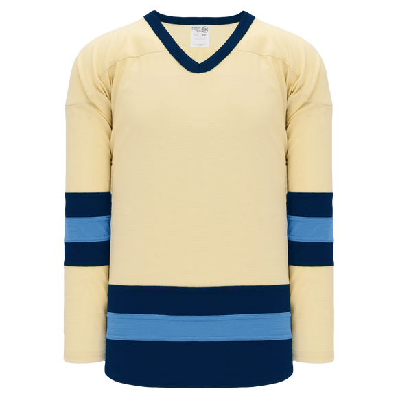 Athletic Knit (AK) H6500-545 Sand/Navy/Sky Blue League Hockey Jersey