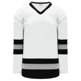 Athletic Knit (AK) H6500-627 White/Black/Grey League Hockey Jersey