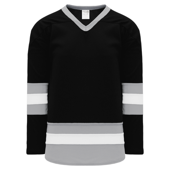 Athletic Knit (AK) H6500-918 Black/Grey/White League Hockey Jersey