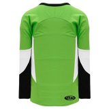Athletic Knit (AK) H6600-107 Lime Green/Black/White League Hockey Jersey