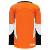 Athletic Knit (AK) H6600-330 Orange/Black/White League Hockey Jersey