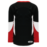 Athletic Knit (AK) H6600-348 Black/Red/White League Hockey Jersey