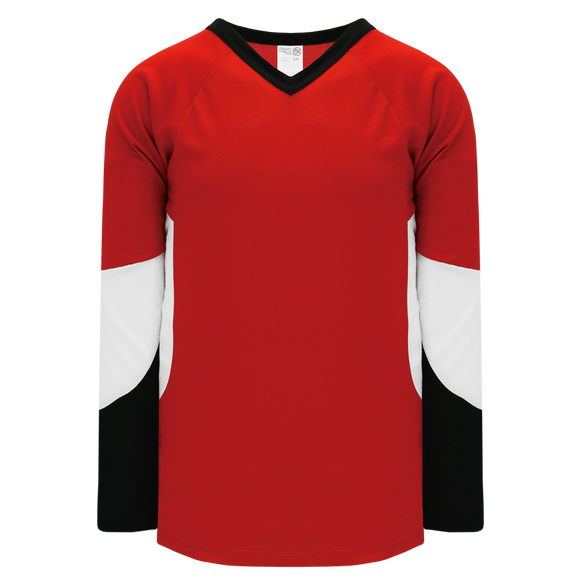 Athletic Knit (AK) H6600 Red/Black/White League Hockey Jersey