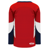 Athletic Knit (AK) H6600-471 Red/Navy/White League Hockey Jersey