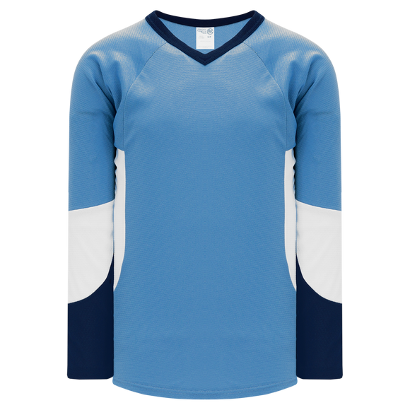 Athletic Knit (AK) H6600 Sky Blue/Navy/White League Hockey Jersey