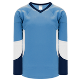 Athletic Knit (AK) H6600-475 Sky Blue/Navy/White League Hockey Jersey