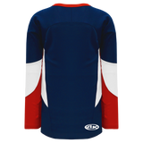 Athletic Knit (AK) H6600A-764 Adult Navy/Red/White League Hockey Jersey