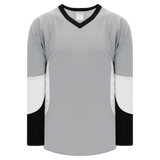 Athletic Knit (AK) H6600A-973 Adult Grey/Black/White League Hockey Jersey