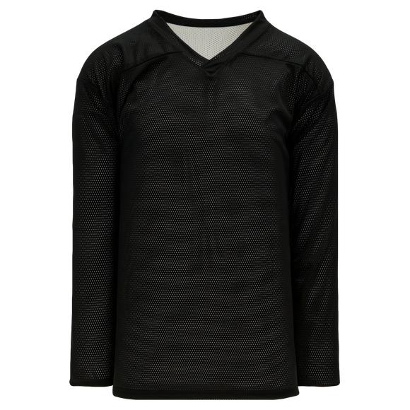Athletic Knit (AK) H686A-221 Adult Black/White Reversible Practice Hockey Jersey