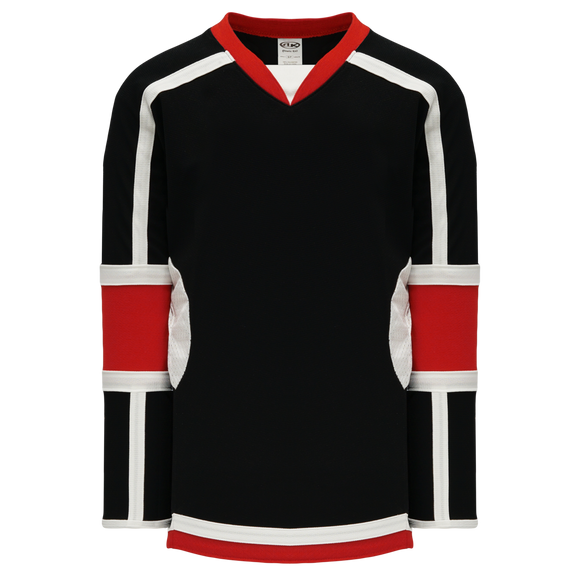 Athletic Knit (AK) H7000-348 Black/Red Select Hockey Jersey