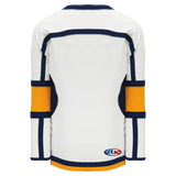 Athletic Knit (AK) H7000-461 White/Navy/Gold Select Hockey Jersey