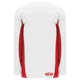 Athletic Knit (AK) H7100A-209 Adult White/Red Select Hockey Jersey
