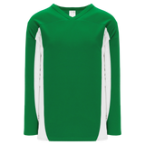 Athletic Knit (AK) H7100A-210 Adult Kelly Green/White Select Hockey Jersey