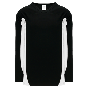 Athletic Knit (AK) H7100A-221 Adult Black/White Select Hockey Jersey