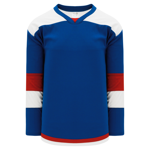 Athletic Knit (AK) H7400A-333 Adult Royal Blue/Red Select Hockey Jersey