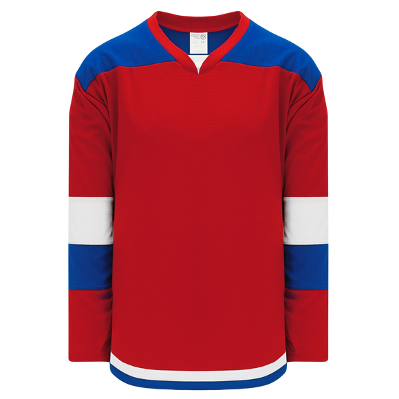 Athletic Knit (AK) H7400-344 Red/Royal Blue Select Hockey Jersey