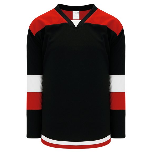 Athletic Knit (AK) H7400Y-348 Youth Black/Red Select Hockey Jersey