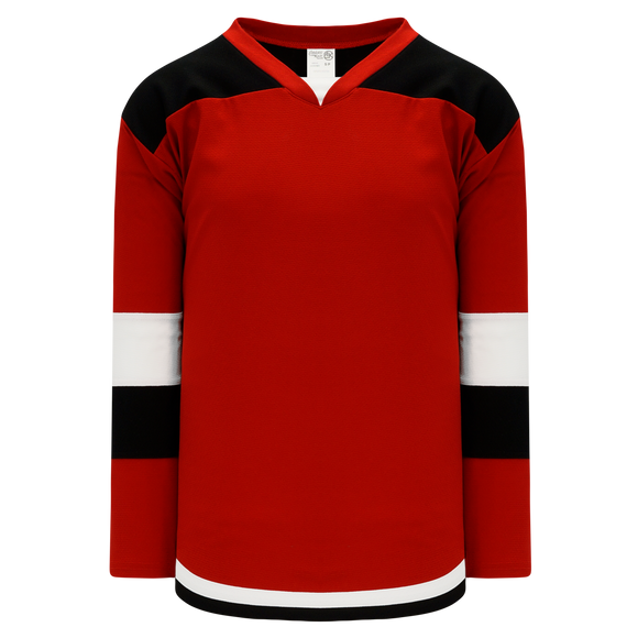 Athletic Knit (AK) H7400Y-414 Youth Red/Black Select Hockey Jersey