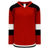 Athletic Knit (AK) H7400A-414 Adult Red/Black Select Hockey Jersey