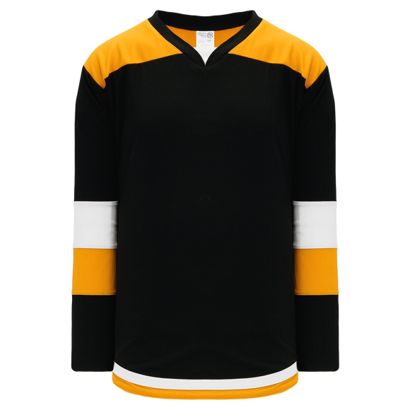 Athletic Knit (AK) H7400Y-437 Youth Black/Gold Select Hockey Jersey