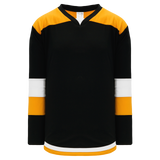 Athletic Knit (AK) H7400A-437 Adult Black/Gold Select Hockey Jersey