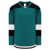 Athletic Knit (AK) H7400A-457 Adult Pacific Teal Select Hockey Jersey