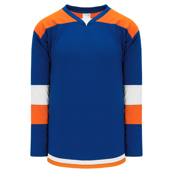 Athletic Knit (AK) H7400Y-482 Youth Royal Blue/Orange Select Hockey Jersey
