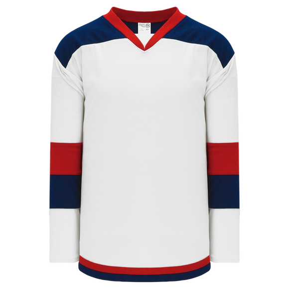 Athletic Knit (AK) H7400Y-765 Youth White/Navy/Red Select Hockey Jersey