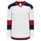 Athletic Knit (AK) H7400A-765 Adult White/Navy/Red Select Hockey Jersey