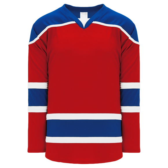 Athletic Knit (AK) H7500-344 Red/Royal Blue Select Hockey Jersey