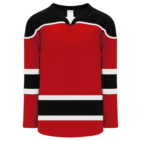 Athletic Knit (AK) H7500A-414 Adult Red/Black Select Hockey Jersey
